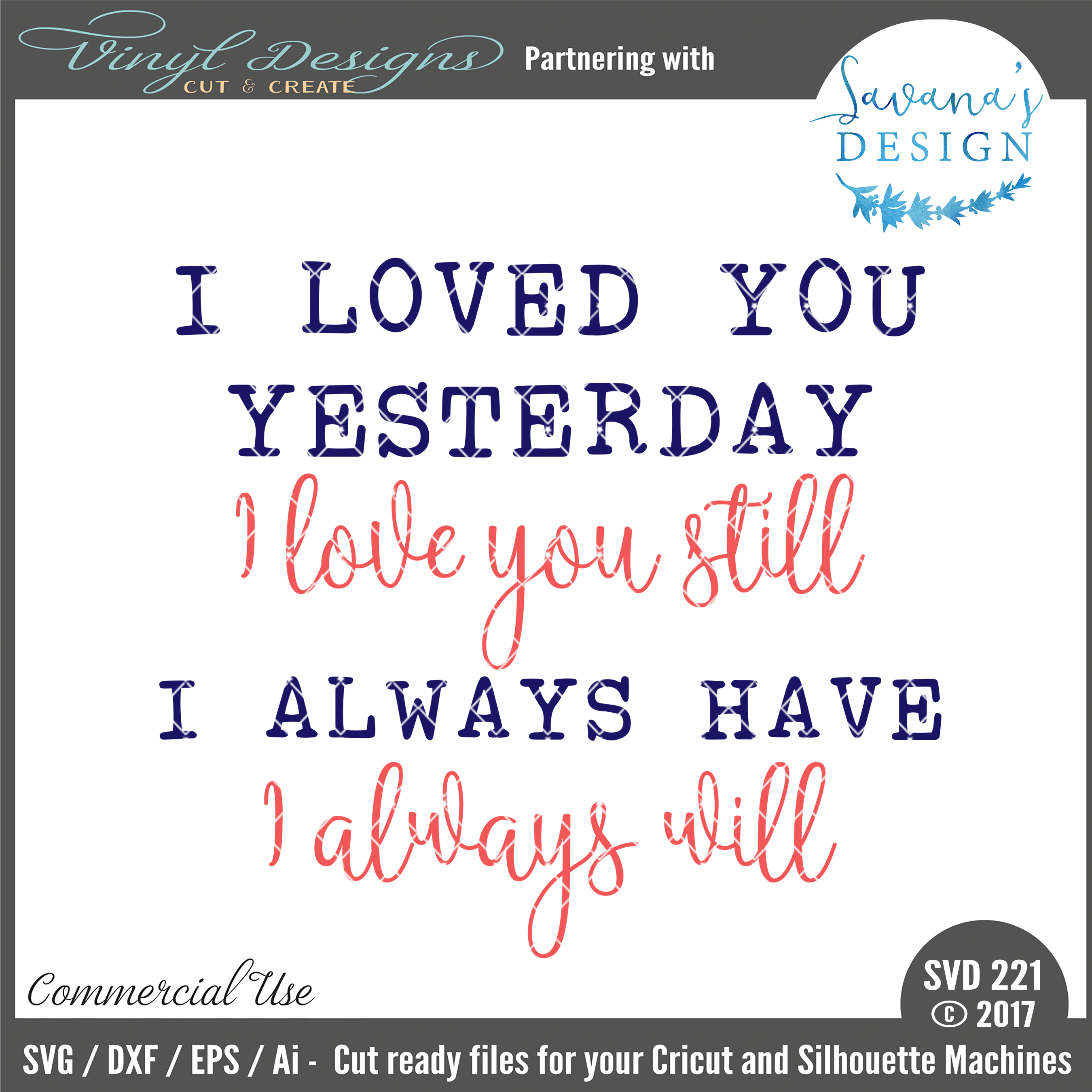 Download SVD221 - I loved you yesterday I love you still. Sold By ...