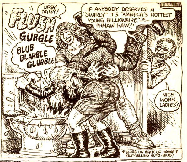 Image result for R. Crumb Donald Trump