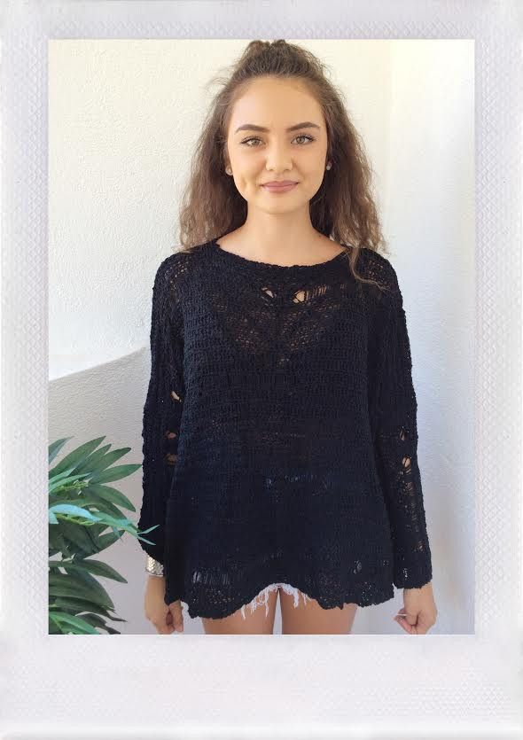 LIVELY CHUNKY SWEATER- BLK