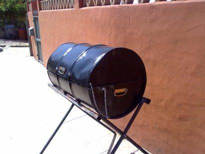 comment faire un barbecue avec un baril tutoriels pinterest baril barbecue et comment faire. Black Bedroom Furniture Sets. Home Design Ideas