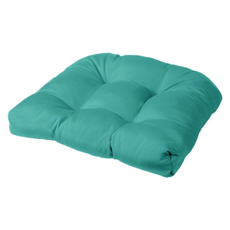 Cushion Source 19 X 18 In. Solid Rounded Back Sunbrella Chair Cushion Aruba    KHRCC 5416