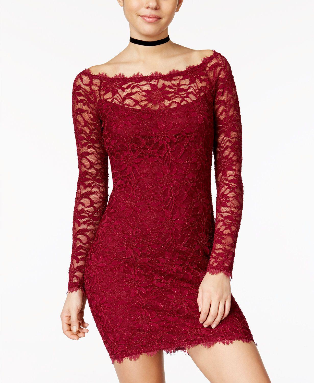 Lace dress macys  Juniorsu Lace Sheath Dress  SEXY DRESSES  Pinterest  Lace sheath