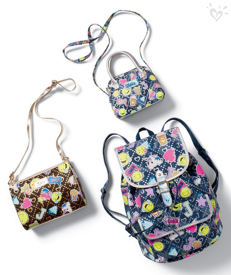 Emoji Takeover Grab The Bags That Have Feature Her Fave Cute Emojis In A Signature Print Fashion Bags Bags Purses