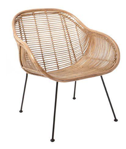 fauteuil chaise rotin scandinave naturel hk living. Black Bedroom Furniture Sets. Home Design Ideas