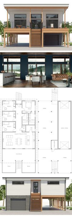 Coastal House Plan, Beach House Plan container home Pinterest