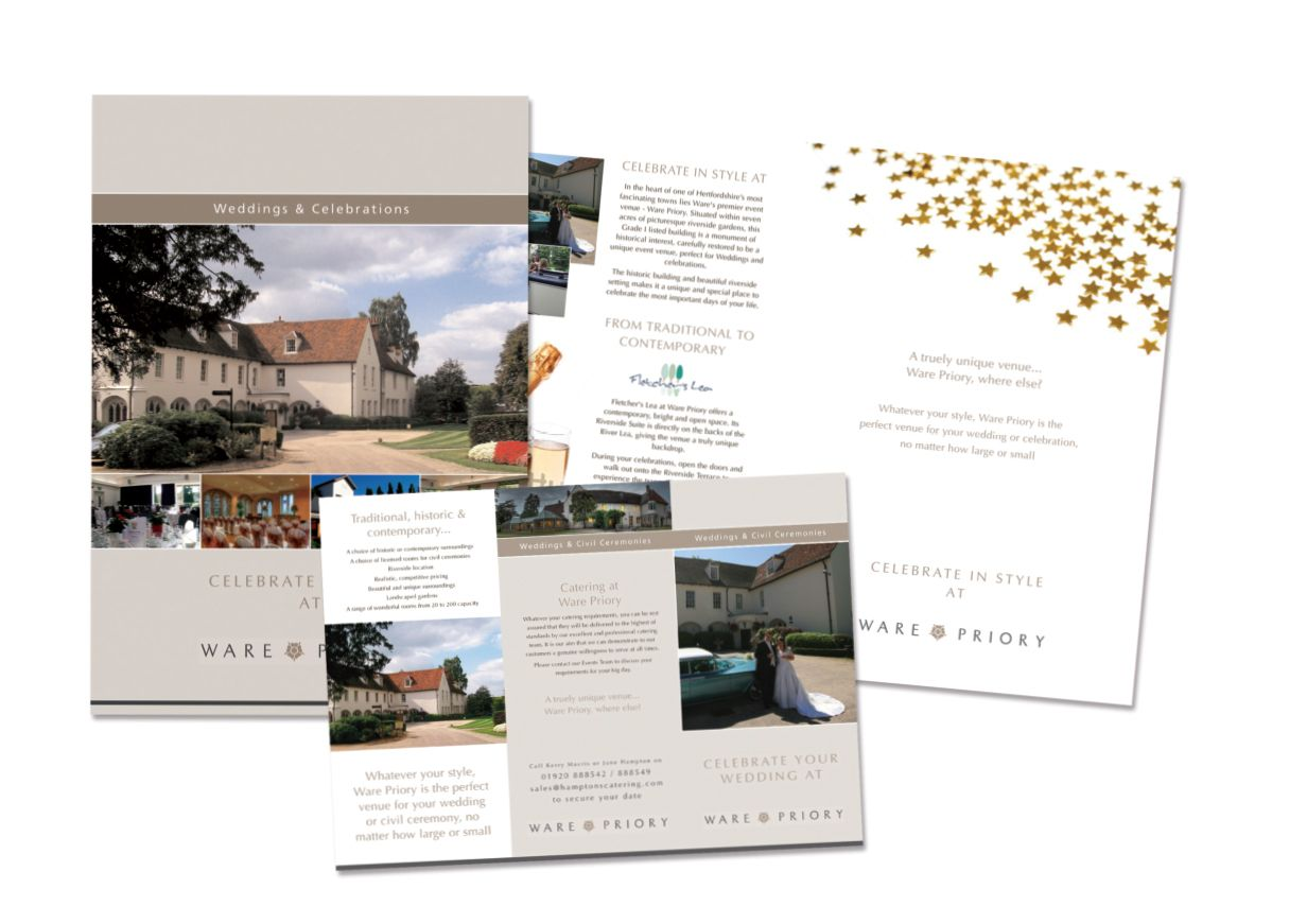 Brochure For Events Venue Wedding Card Design Brochure Design
