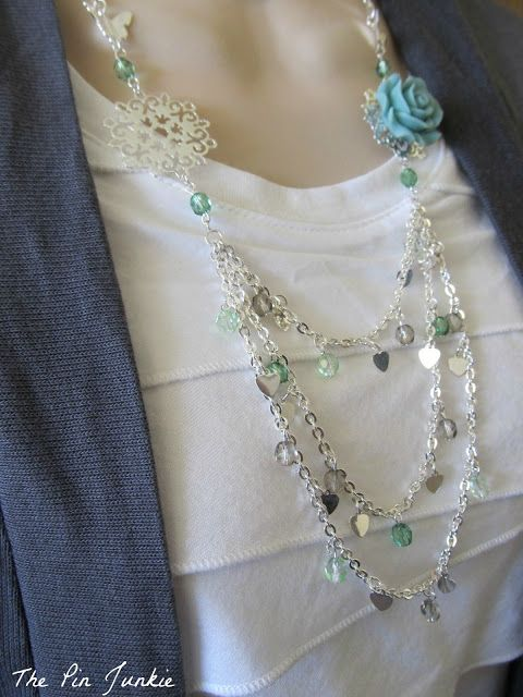 DIY tutorial for creating a custom necklace.from Martha Stewart components. #Wire #Jewelry #Tutorials