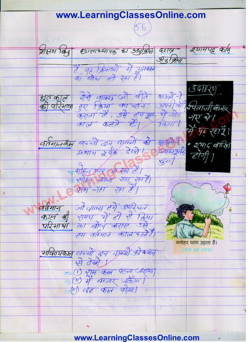 Kaal Aur Uske Bhed Path Yojana Hindi Vyakaran Class 7 School Teaching Practices Lesson Plan In Hindi Grammar Lesson Plans [ 1169 x 850 Pixel ]