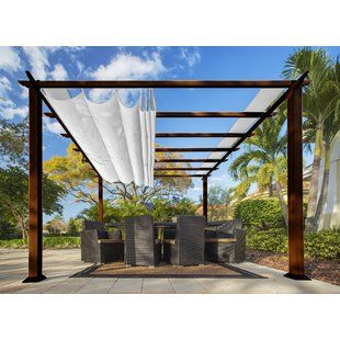 HeritagePatios 14 Ft. D Aluminum Pergola | Wayfair