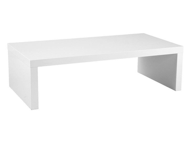 Cloverdale Coffee Table White Lacquer Modern Coffee Tables
