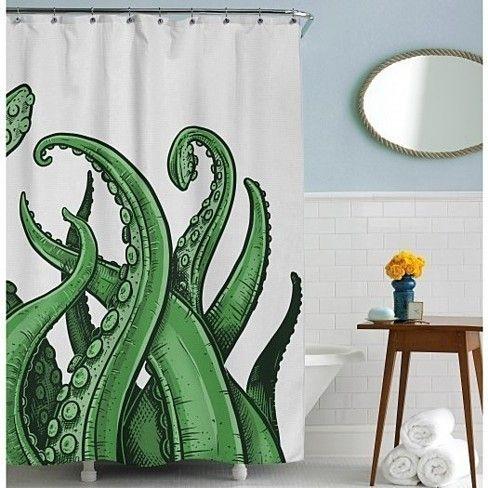 Tentacles Shower Curtain Octopus Shower Curtains Decor Dorm