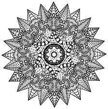 Mandalarbre Boyama Sayfalari Sablon Baski Mandala