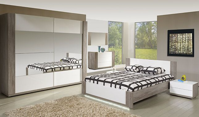 Chambre adulte contemporaine irena for Chambre contemporaine adulte