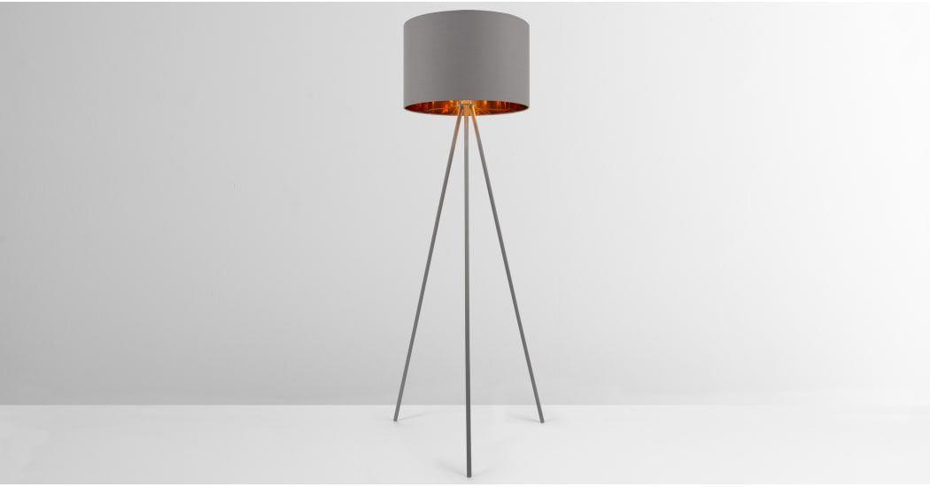 Grey Copper Tripod Floor Lamp Tris Made Com Floor Lamp Design