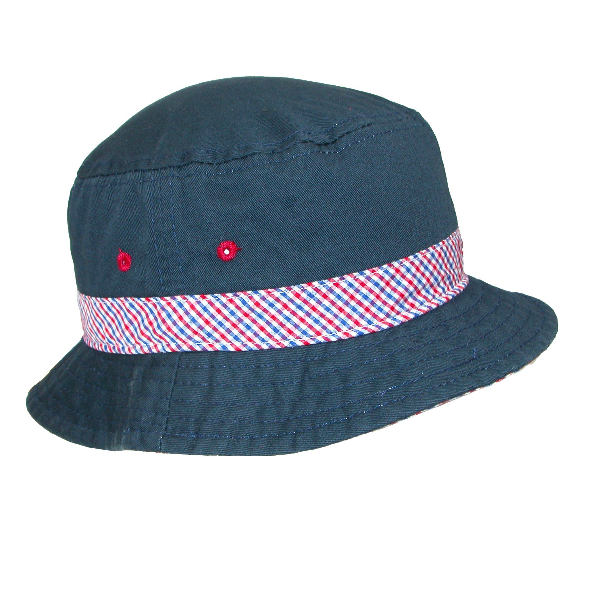 7a583175af6d7 Scala Kids  Nautical Cotton Bucket Hat with Contrast Hatband and Underbrim