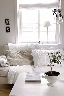 Living room Whitewashed Cottage chippy shabby chic french country rustic swedish decor idea.. ***Pinned by oldattic ***.