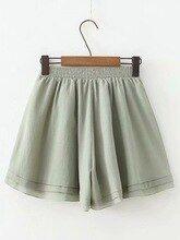 Women Summer Casual Loose Chiffon Shorts Ladies High Waist Short Pants With Belt Elastic Waist Drawstring Female Short Mujer #chiffonshorts