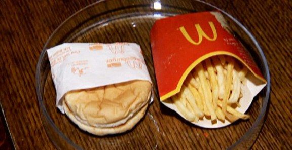 This McDonald's meal was purchased six years ago