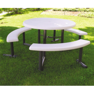 Round Swing Out Bench Picnic Table Plastic Resin Table Picnic