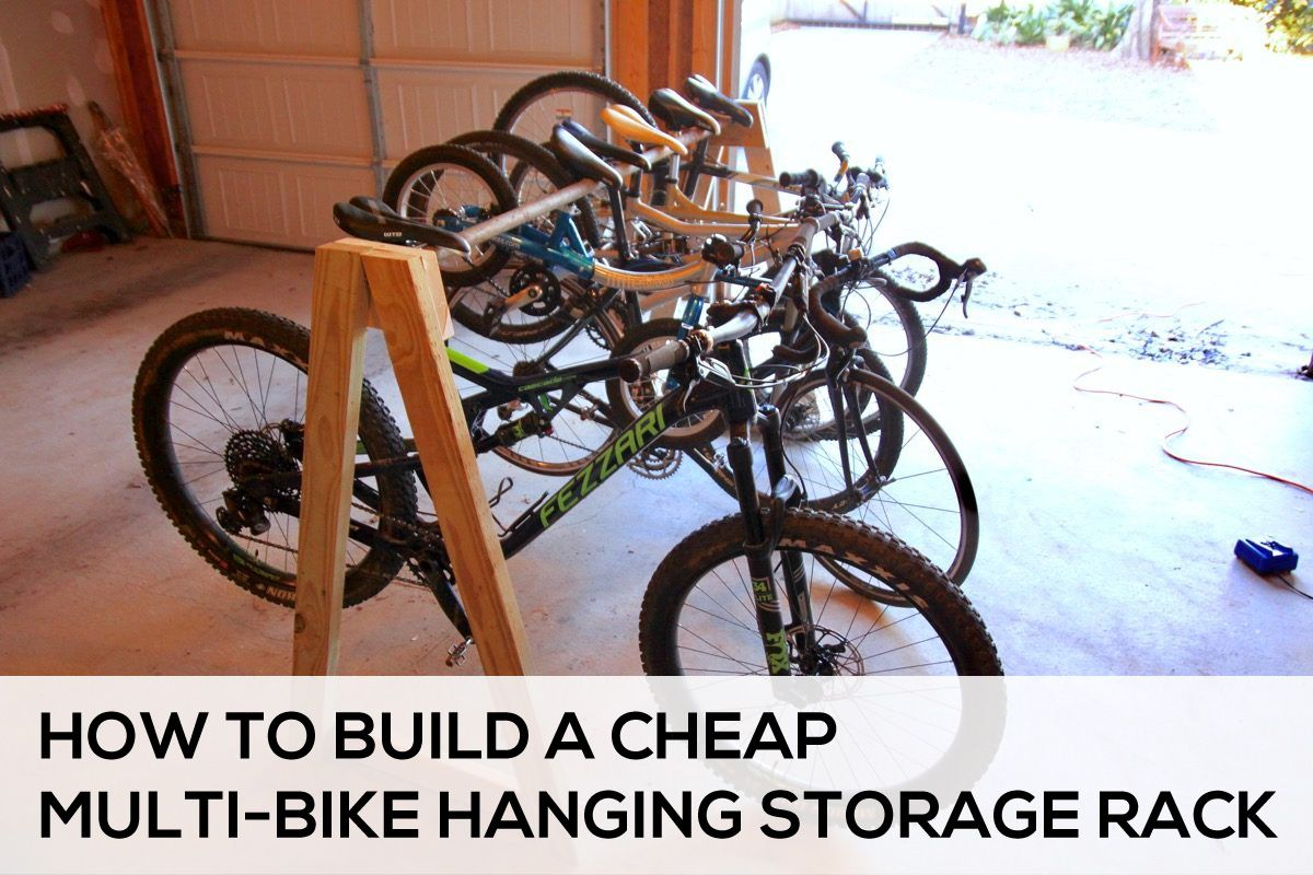 How To Easily Build A Cheap Multi Bike Hanging Storage Rack Diy