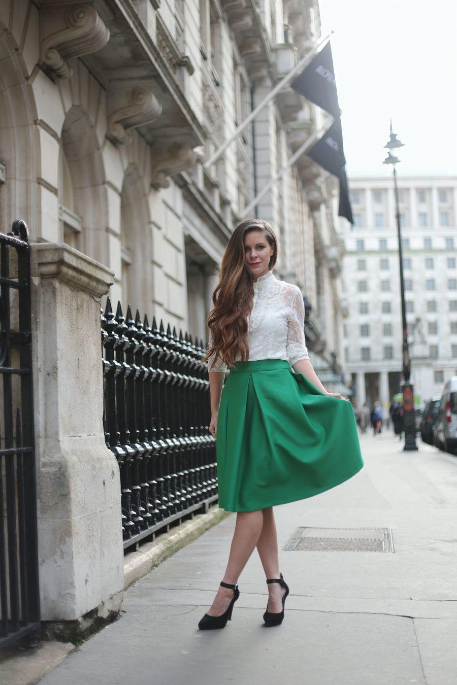 full midi skirt in green1 | Vintage | Pinterest | Full midi skirt ...