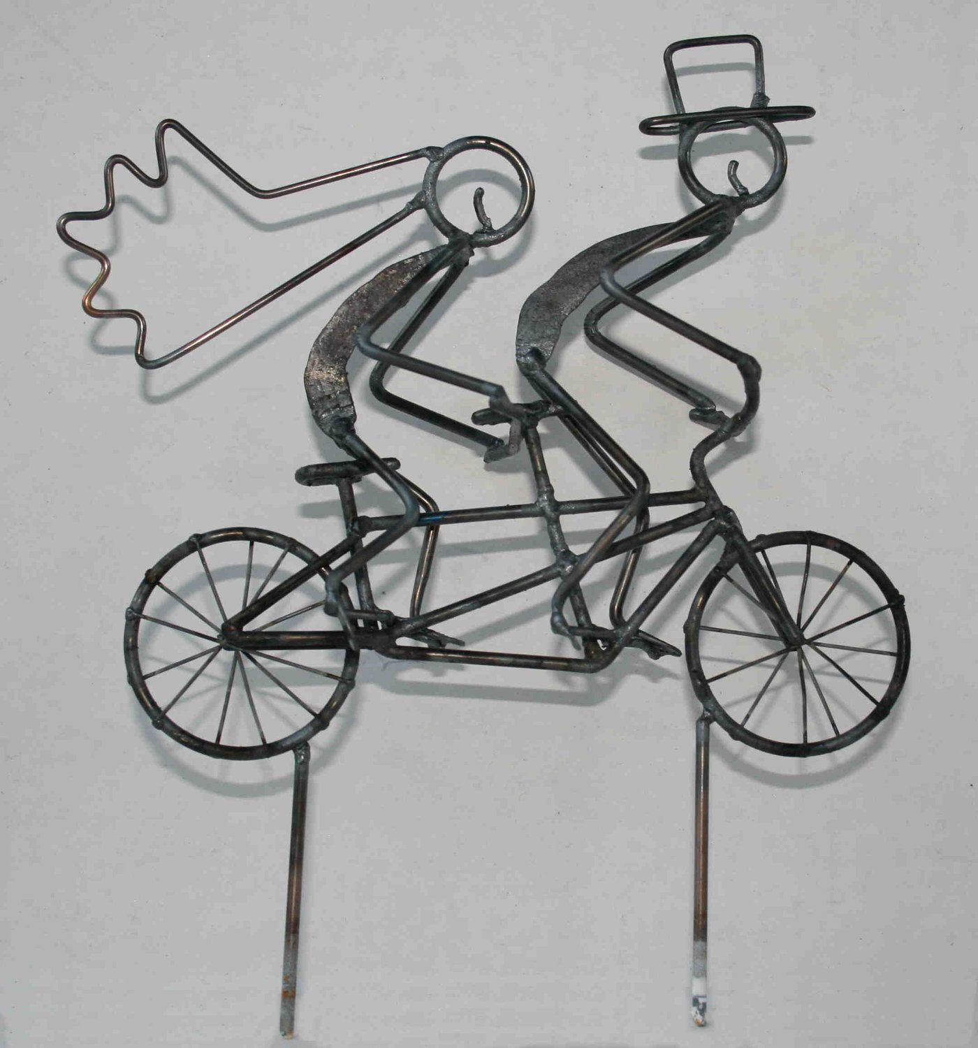 Tandem Bicycle Wedding Cake Topper 42 50 Via Etsy