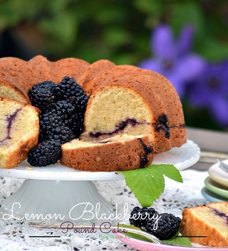 Lemon Blackberry Pound Cake