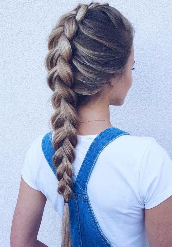 39 Trendy + Messy & Chic Braided Hairstyles – Dutch Braid