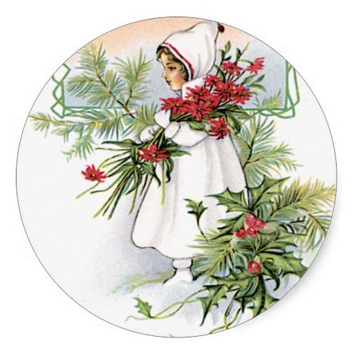 Christmas Blessing ~ Poem Round Stickers