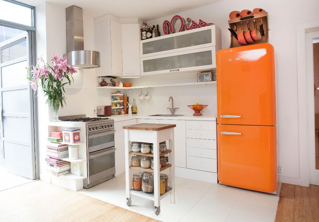 Smeg Kühlschrank Orange : Smeg fab32qo 50s retro style right hand hinged orange fridge freezer
