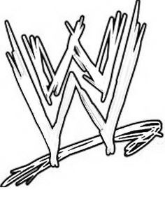 Coloring Wwe Free Printable WWE Coloring Pages For Kids WWE