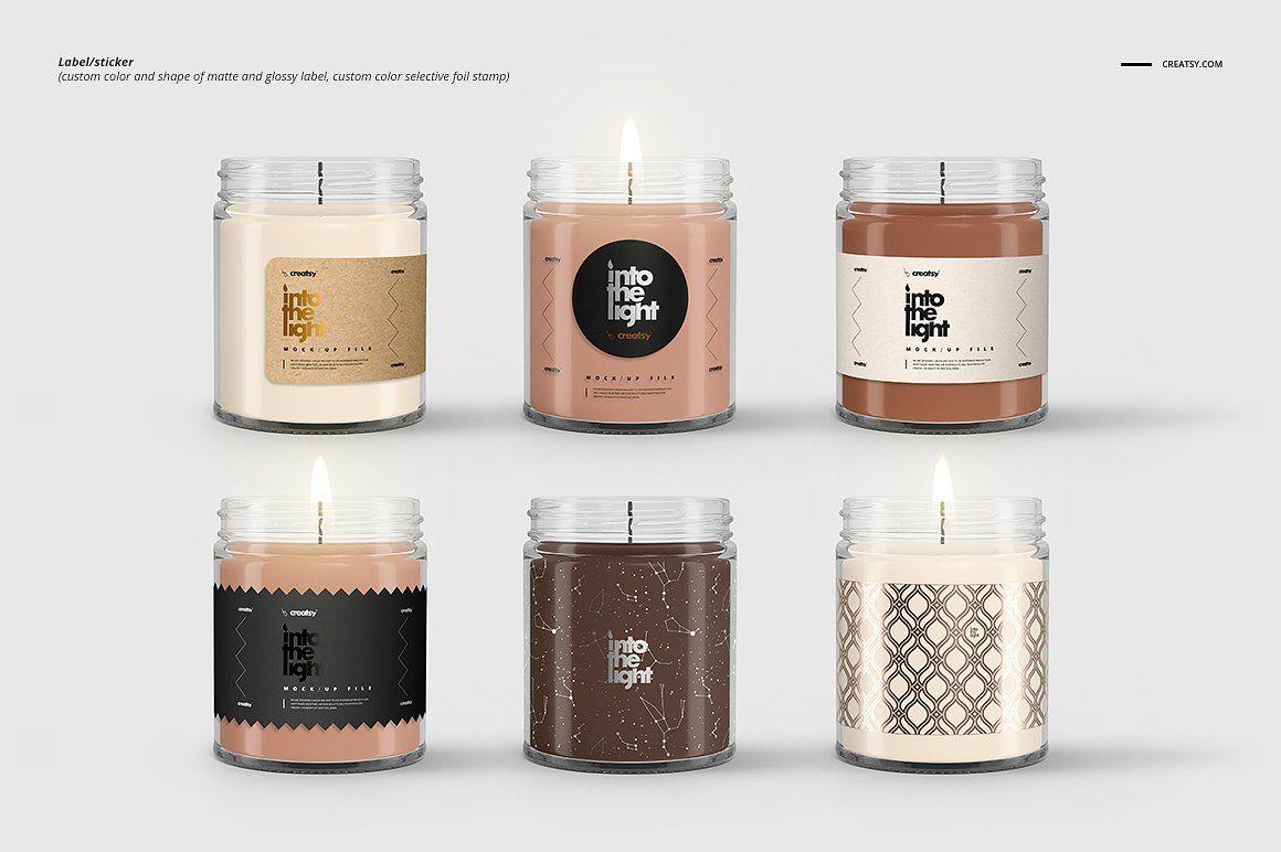 Jar Candle Mockup Set Candle Mockup Candle Labels Design Candle Jars