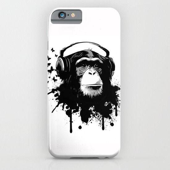 #iphone #case #iphonecase #iphone6 #monkey #chimp #illustration #music #graffiti #spatter