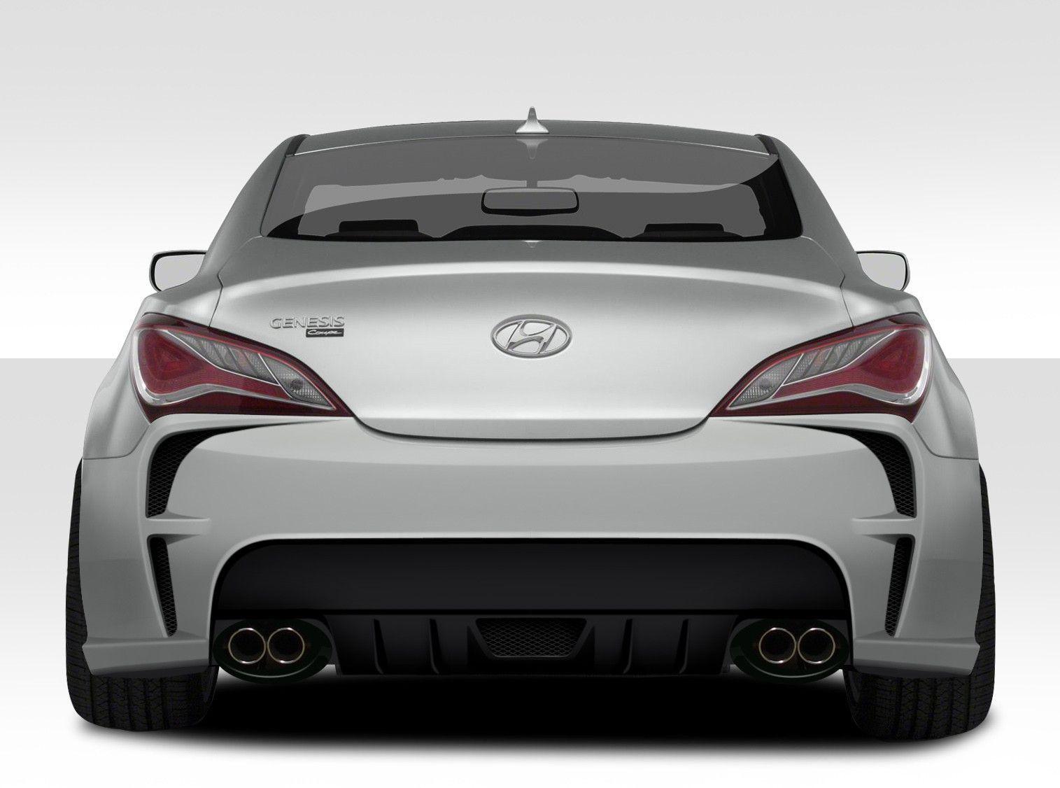 2010 2016 Hyundai Genesis 2dr Duraflex Vg R Rear Bumper Cover 1 Piece Hyundai Genesis Hyundai Genesis Coupe Hyundai