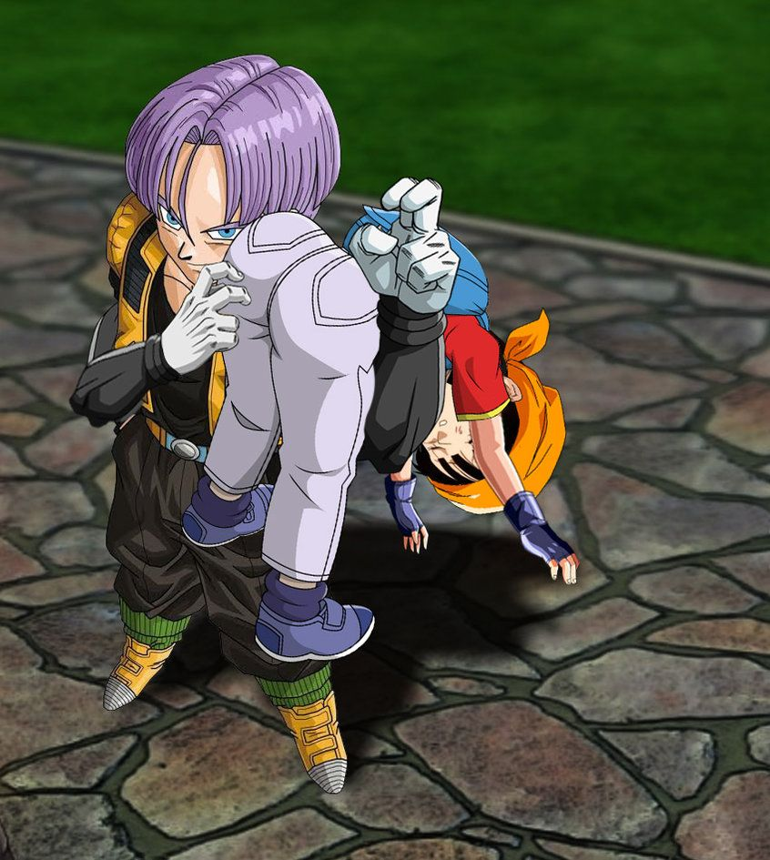 Pan From Dragon Ball Gt Is Ots Carry By Trunks By Ronaldcota