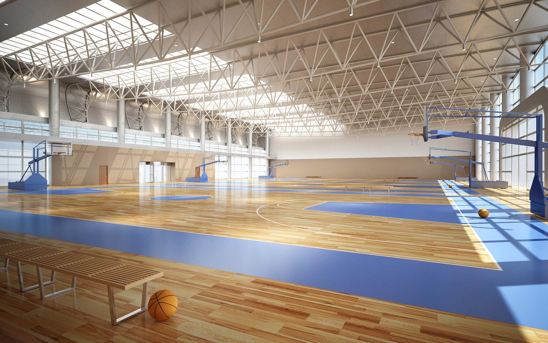 Basketball Gymnasium Arena 3d Model Flatpyramid Stadium Design Stadium Architecture Modern Architecture
