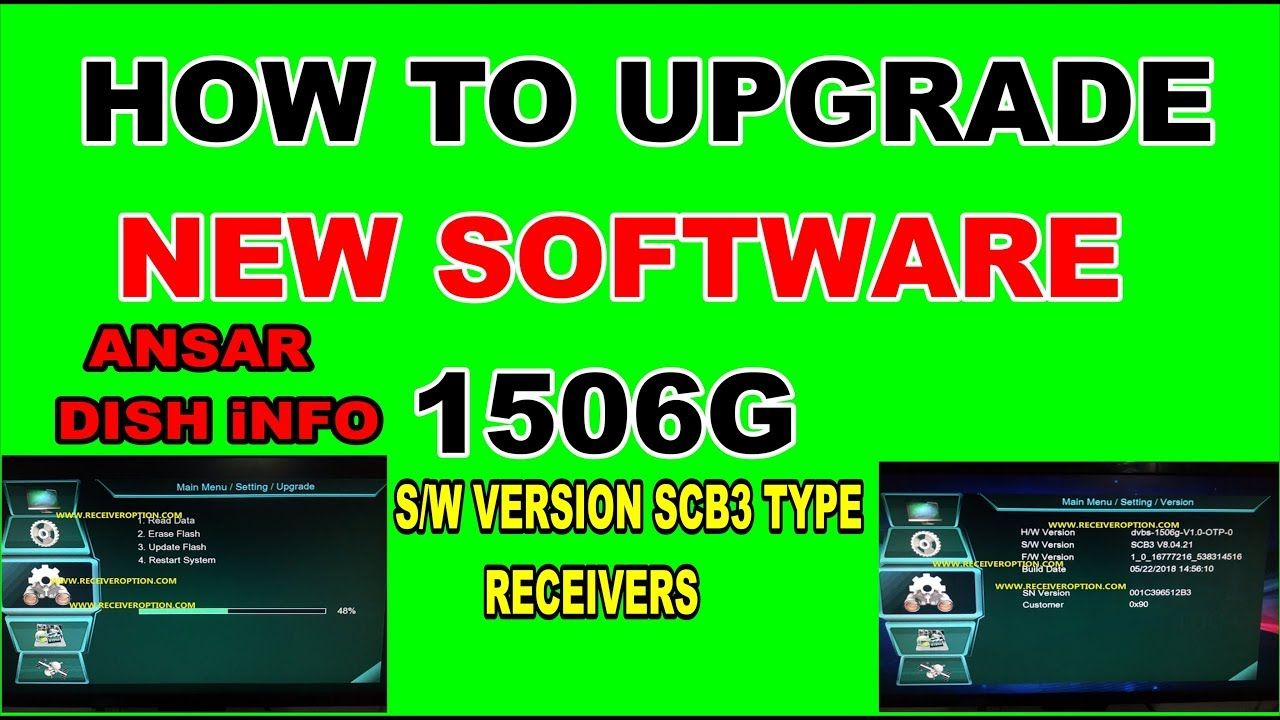 HOW TO UPGRADE NEW SOFTWARE 1506G SW VERSION SCB3 TYPE