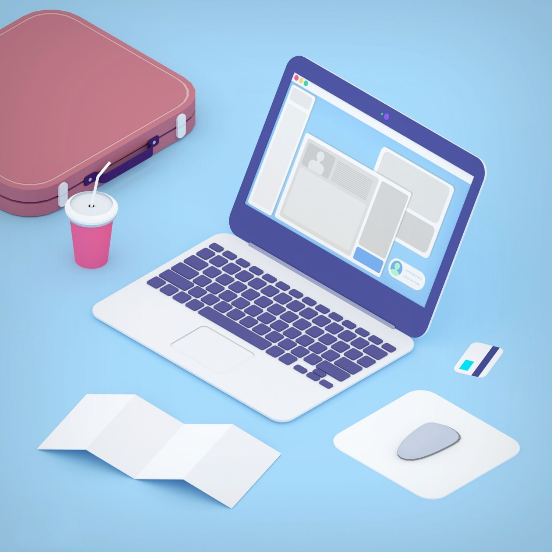 Laptop in toon 3d style Laptop, Buying laptop, Screen