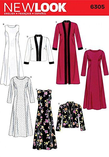 New Look Sewing Pattern 6305 Misses Dresses Sizes A 1 Https