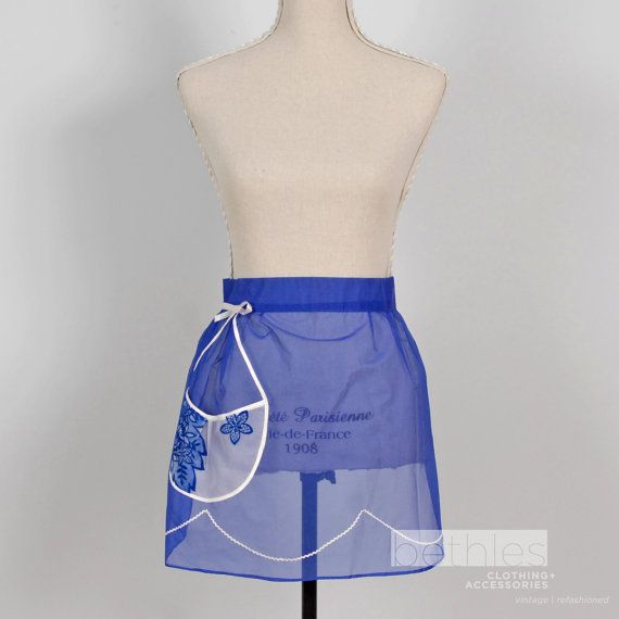 Hostess Half Apron Organza Vintage 60s Bright by Bethlesvintage, $30.00
