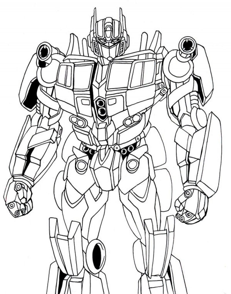 Optimus Prime Coloring Pages For Kids Enjoy