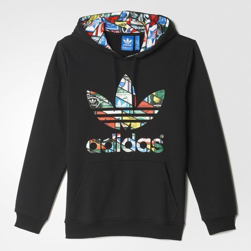 13628b98fb adidas Label Sweat Hoodie - Black | adidas US | Shirts in 2019 ...