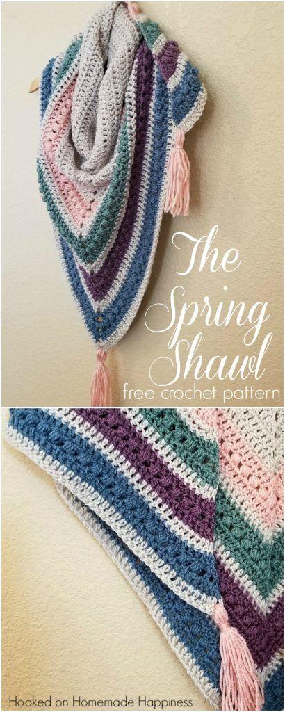 The Spring Shawl Crochet Pattern | Knit | Pinterest | Chal ...