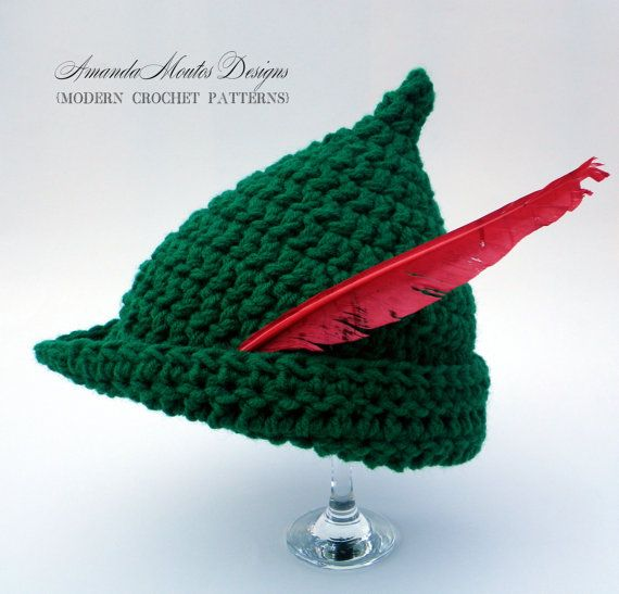 Instant download elf peter pan robin hood hat crochet instant download peter pan robin hood by amandamoutosdesigns 550 hat crochet patternshat dt1010fo