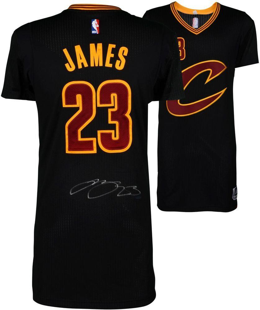 the latest 435ec ea56c LeBron James Cleveland Cavaliers Autographed Black Adidas ...