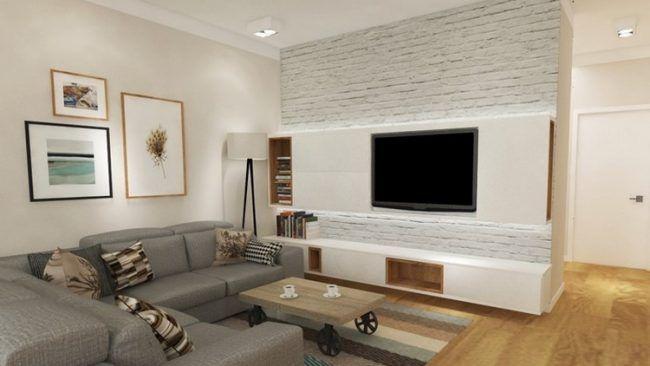 fernseher wand montieren wohnzimmer, fernseher-wand-montieren-wohnzimmer-wandpaneele-stauraum-led-leisten, Design ideen