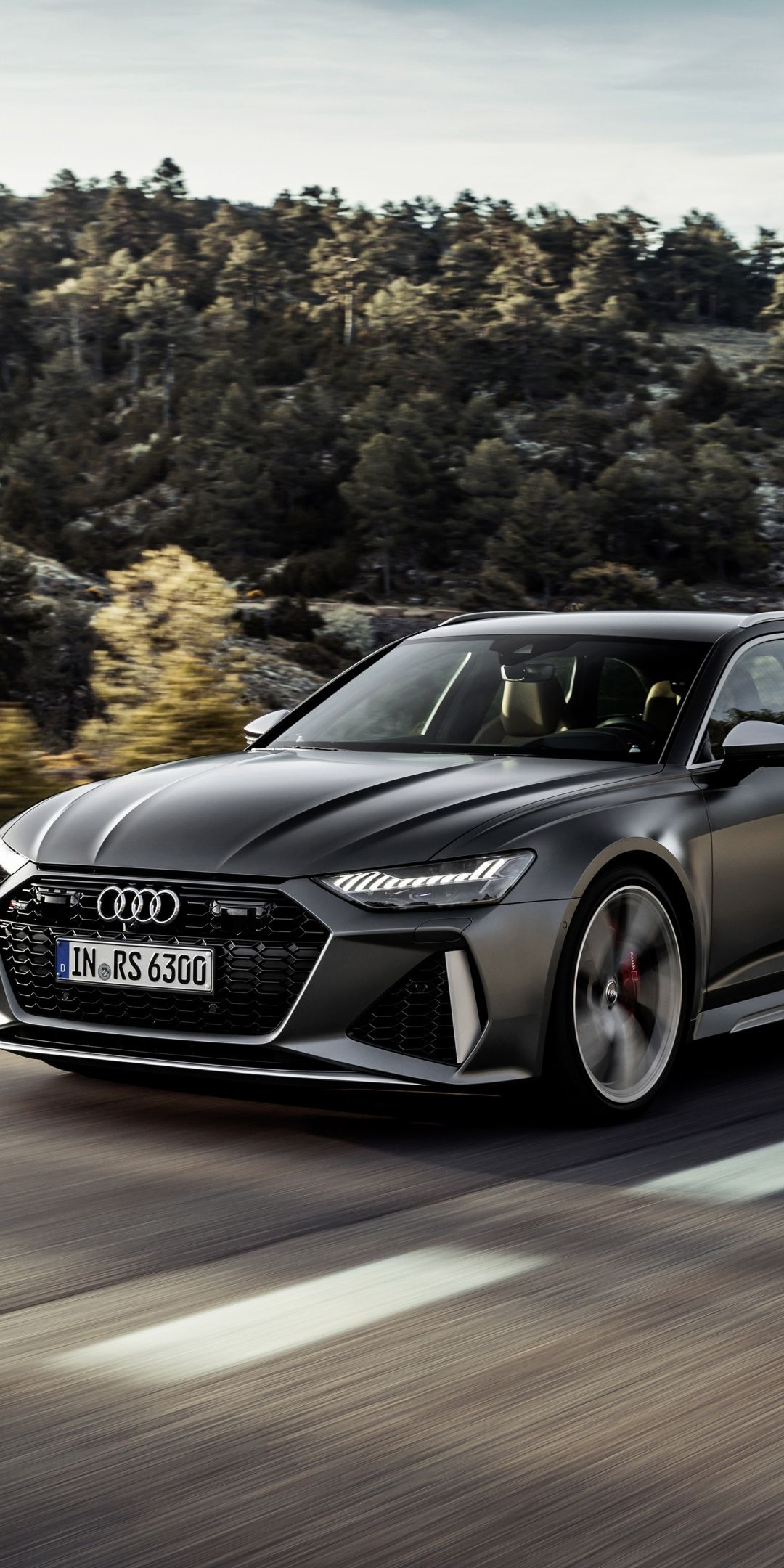 1080x2160 2020 Audi Rs6 Avant Black Car Wallpaper Black Audi