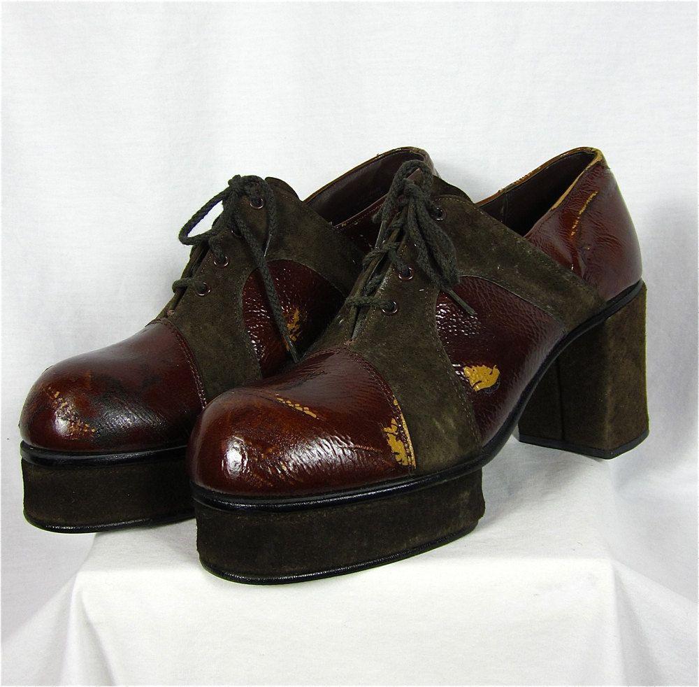 Disco Shoes | Vintage 70s Mens Platform