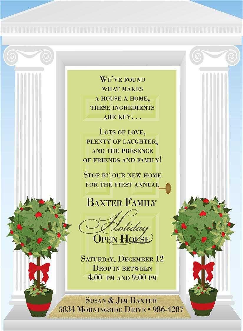 Christmas Open House Invitations Wording Invitationsweddorg