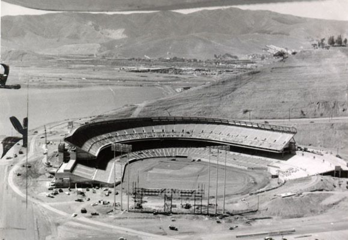Candlestick Park, San Francisco, 1960 - The Giants new ballpark built by the windy and cold bay nears completion
